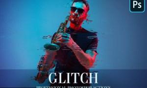 Glitch Photoshop Action 4870269