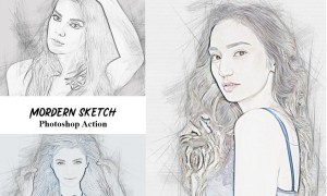 Modern Sketch Photoshop Action 4934546