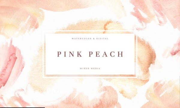 Pink Peach Watercolor Texture M4FT2TK