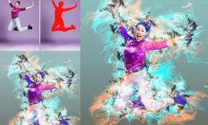 Smoke Effect Photoshop Action 26171991