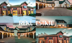 21 Real Estate Photoshop Actions Z928Y96
