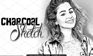 Charcoal Sketch Photoshop Action 4723237