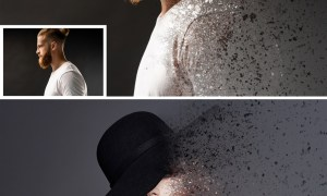 Dispersion Photo Effect Mockup 364810720