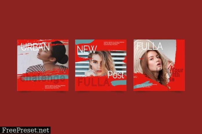 FULLA - Instagram Post & Story Template