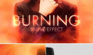 Hot Fire Effect Mockup 364786619