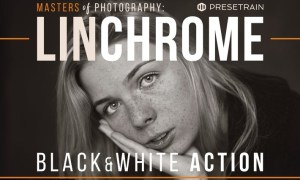 Linchrome Black & White Photoshop Action