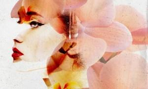Spring Portrait Photo Effect Layout 364825238
