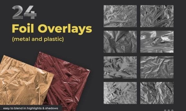 24 Foil Overlay Textures 6WMALUJ