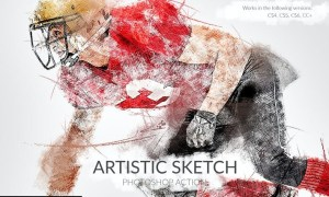Artistic Sketch Photoshop Action A3EVVSC