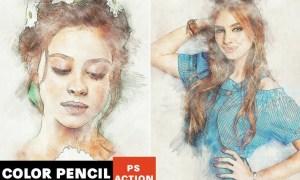 Color Pencil Photoshop Action  VL2LZE6