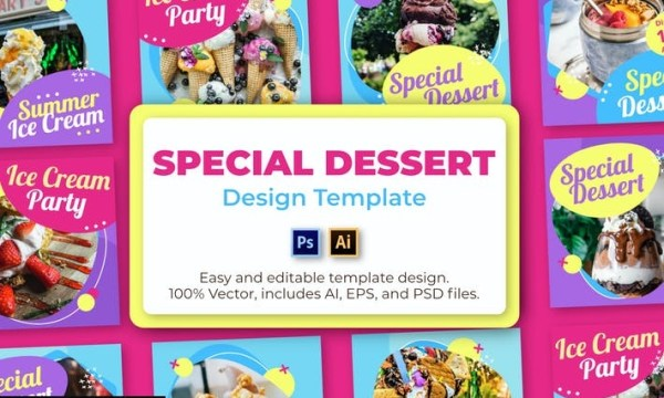 Dessert Social Media Template 629AZGG