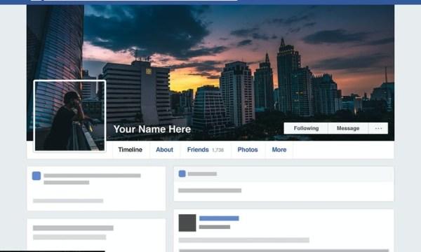 Facebook Seamless Template HD 9CDWMG