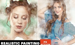 Realistic Painting Photoshop Action GACAM6V