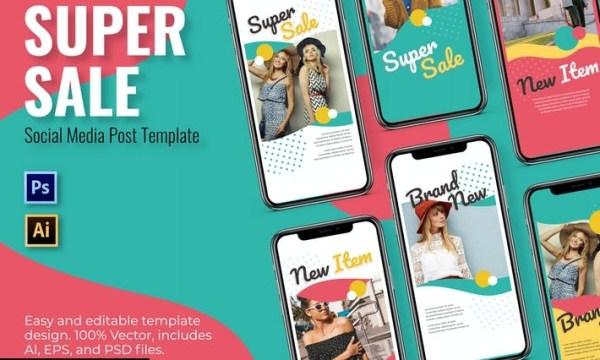 Super Sale Social Media Template 26PKUDC