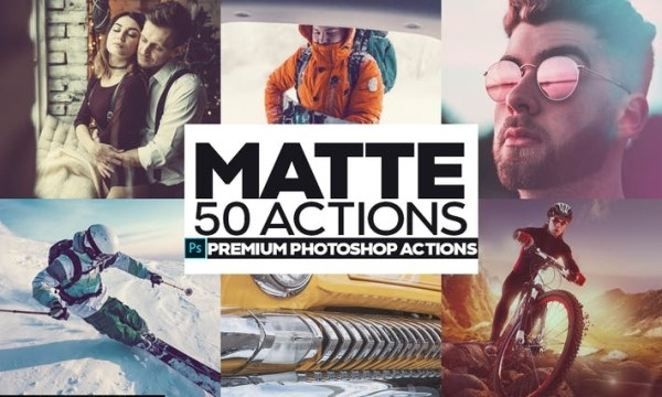 50 Matte Photoshop Actions U3PN9ZN