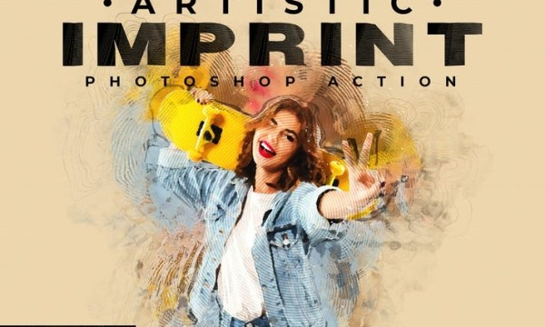 Artistic Imprint Photoshop Action AWVELYT