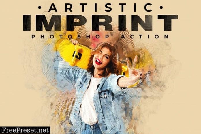 Artistic Imprint Photoshop Action AWVELYT