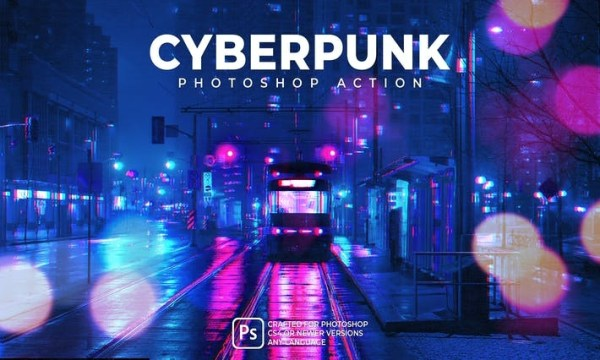 Cyberpunk Photoshop Action 2EVV4A6