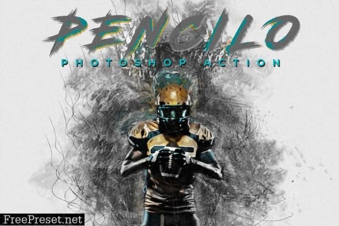Pencilo - Pencil Sketch Art Photoshop Action XHW28CX