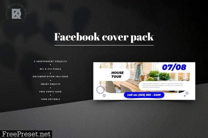 Real Estate Facebook Cover Pack T8QBC2A