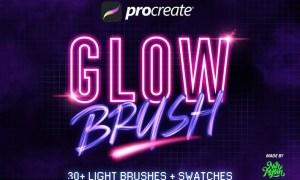 30+ Procreate Glow Brushes GJQSYDG