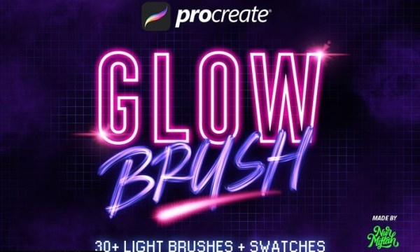 30+ Procreate Glow Brushes GJQSYDG