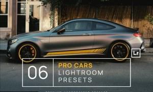 6 Pro Cars Lightroom Presets + Mobile