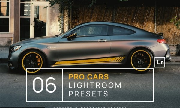 6 Pro Cars Lightroom Presets + Mobile