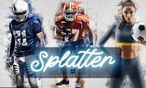 Art Splatter Photoshop Action QP5S3C8