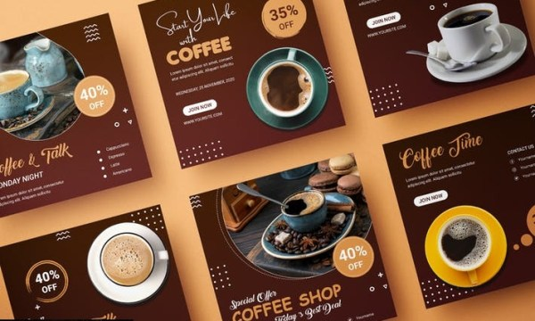 Coffe Banner Template 7V96H3F