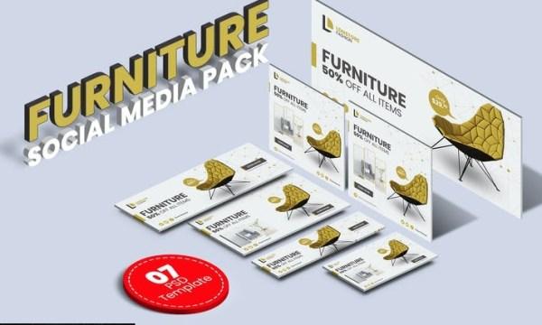Furniture social media pack KEVEJFN