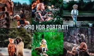 HRD Portrait Photoshop Actions HW5Q523