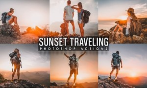 Sunset Traveling Photoshop Actions