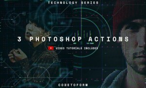 Technology Series Photoshop Actions RTD2JL9
