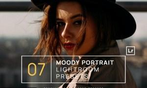 7 Moody Portrait Lightroom Presets + Mobile