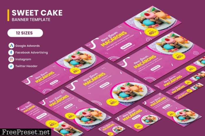 Cake Banners Ads M99H52N