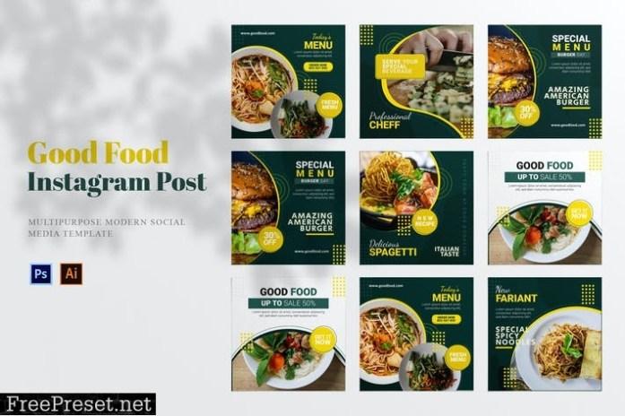 Good Food Social Media Post V3JGE9W