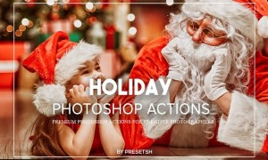 Holiday Photoshop Actions SZ2359B