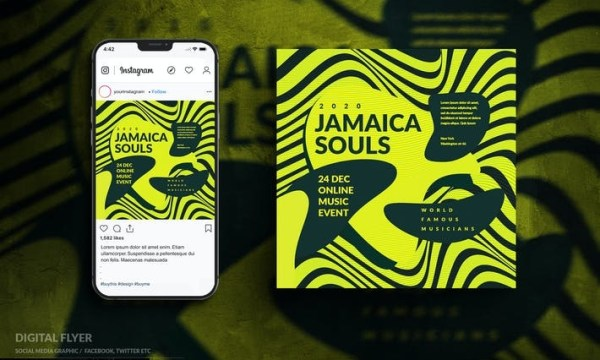 Instagram Online Music Event Digital Flyer 4FL3YGP