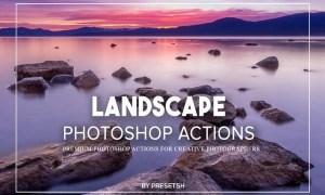 Landscape Photoshop Actions GJ4UVBM