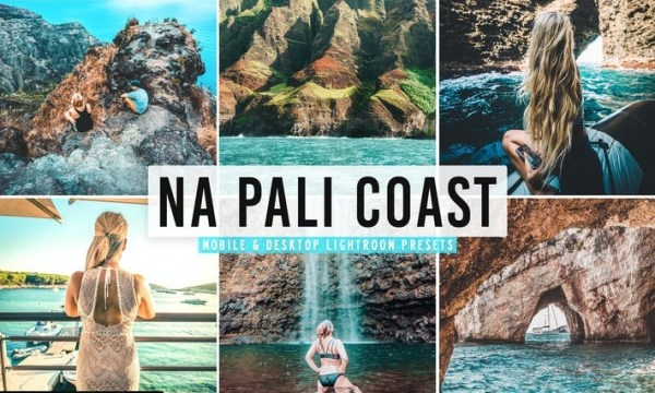 Na Pali Coast Mobile & Desktop Lightroom Presets
