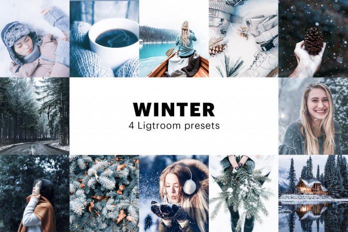 4 Winter Lightroom Presets 5627706