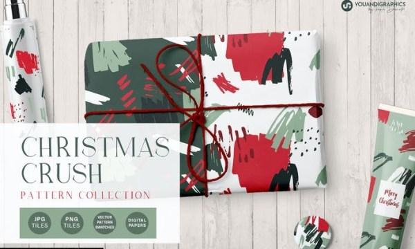 Christmas Crush Abstract Patterns 6C2LAMT