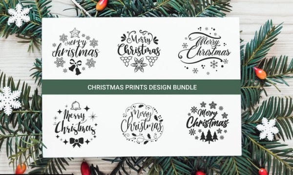 Christmas Typography Set UZASAVG