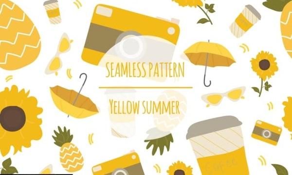 Yellow Summer – Seamless Pattern LSZ6J4Q
