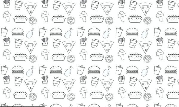 Food pattern illustration AKWF29V