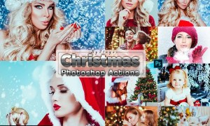 Xmas Christmas Photosahop Actions XC44GNV