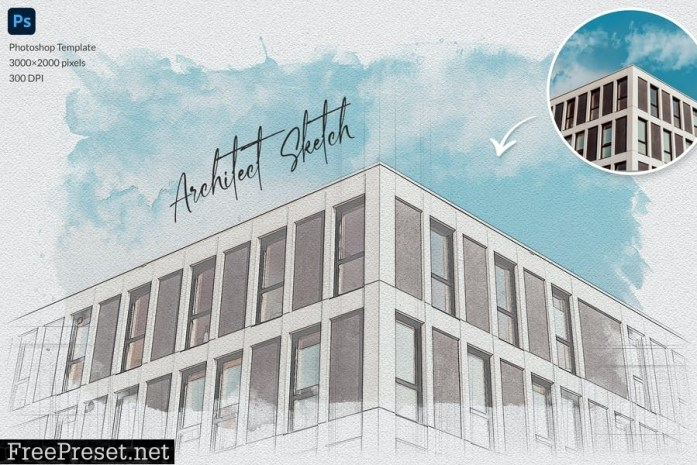 Architect Sketch Photo Template Y2L7WRN