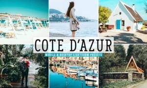Cote D'Azur Mobile & Desktop Lightroom Presets