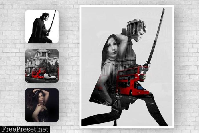 Triple Exposure Photoshop Action XG9KJYY
